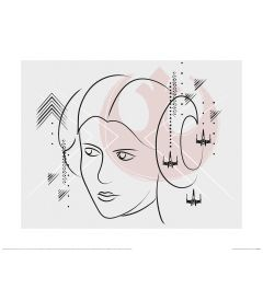 Star Wars Princess Leia Organa Art Print 40x50cm