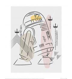 Star Wars R2-D2 Art Print 40x50cm