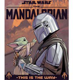 Star Wars The Mandalorian Hello Little One Poster 40x50cm