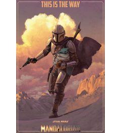 Star Wars The Mandalorian On The Run Poster 61x91.5cm