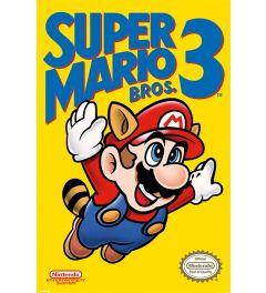Super Mario Bros 3 Poster NES Cover 61x91.5cm