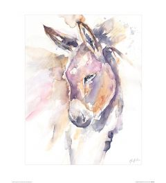 Thoughtful Donkey Art Print Jennifer Rose 40x50cm