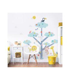 Baum mit Wildtieren XXL Wandtattoo