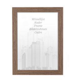 Bilderrahmen 50x50cm Nussbaum - Holz