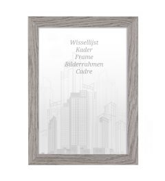Bilderrahmen 70x90cm Felsgrau - Holz