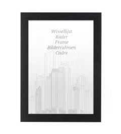 Bilderrahmen 30x30cm Eiche Schwarz - Holz