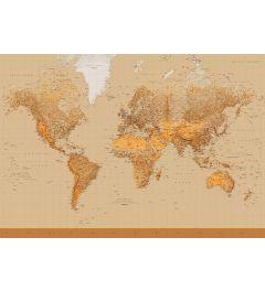 Karte der Welt - Sepia