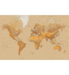 Weltkarte - Sepia