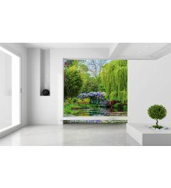 Monets Garten In Frankreich Fototapete 2-teilig 184x254cm