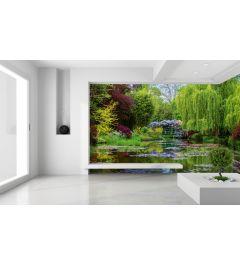 Monets Garten In Frankreich Fototapete 4-teilig 368x254cm
