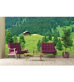 Schweizer Berge Gstaad II Fototapete 4-teilig 368x254cm