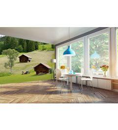 Schweizer Bauernhaus 4-teilige Fototapete 368x254cm