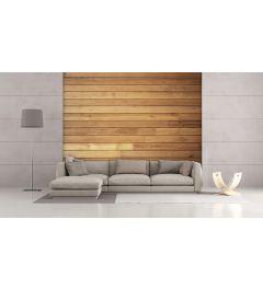 Gemütliche Holzwand 4-teilige Fototapete 368x254cm