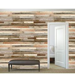 Gerüstbau-Holz 4-teilige Fototapete 368x254cm