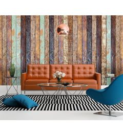Vintage Holzwand 4-teilige Fototapete 368x254cm