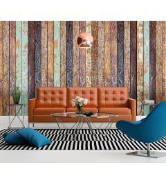 Vintage Holzwand 4-teilig Fototapete 368x254cm