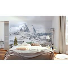 Bezaubernde Weiße Berge 8-teilig Fototapete 400x280cm