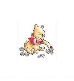 Winnie The Pooh Love Nature Art Print 30x30cm