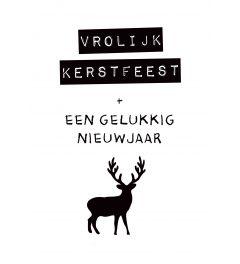 Merry Christmas Deer Studio Inktvis Poster 42x59.4cm